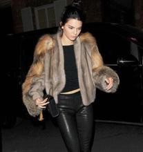 Top quality famous brand design women genuine mink fur coat New style fashion fur coat women coats with fox fur sleeve