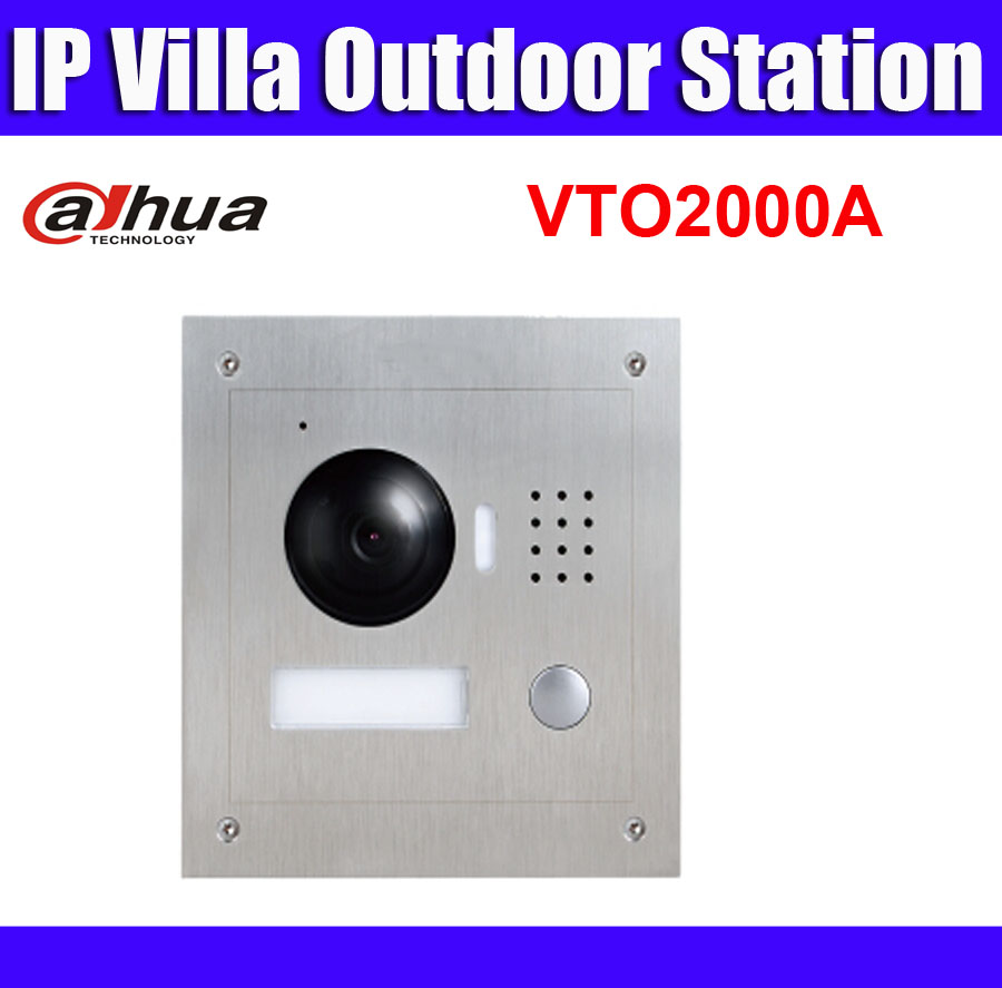 VTO2000A 1.3MP Video Door Phone POE P2P Metal Villa Outdoor Station Remote intercom mobile APP Night vision-in Video Intercom from Security & Protection    1