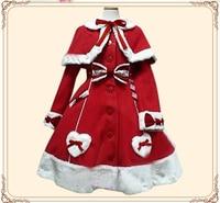 Платье в стиле Лолиты, Осень зима, женское Новое однобортное милое шерстяное пальто, модное милое пальто с высокой талией, накидка, бесплатн