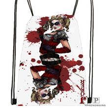 Custom joker-batman-card@1 Drawstring Backpack Bag Cute Daypack Kids Satchel (Black Back) 31x40cm#2018612-01-(2)
