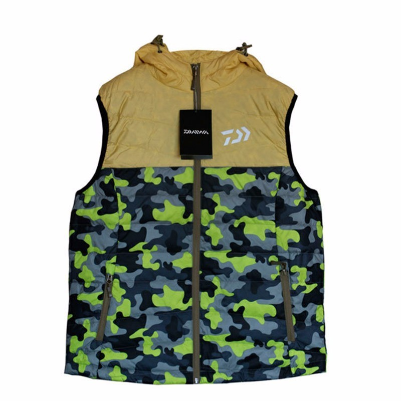 Fishing Clothing Autumn And Winter New Fishing Feather Vest Warm Vest Fashion Camouflage Windproof Men Fishing