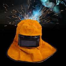 LETAOSK Portable Leather Hood Welding Helmet Mask Solar Auto Darkening Filter Lens Welder