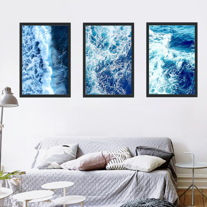Minimalism Print HD Painting Picture Nordic Sea Waves Scenery Poster Office Home Decoration On Canvas Modern Style Wall Artwork