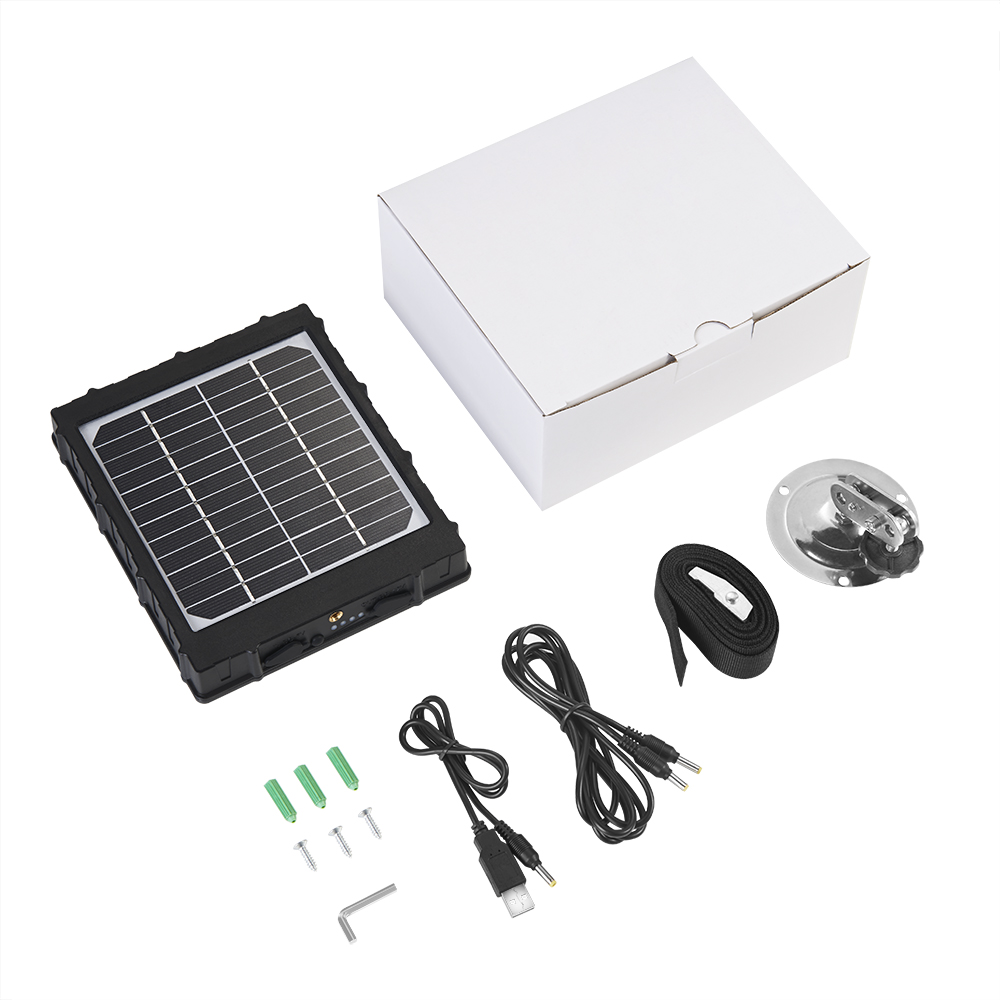4G Hunting Camera Solar Panel For Photo Traps External Battery Solar Charger 3000mAh Aluminum Battery Polymer Solar Power Supply (6)
