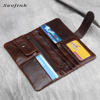 Genuine leather luxury men wallets high quality men purse vintage designer male carteira free shipping