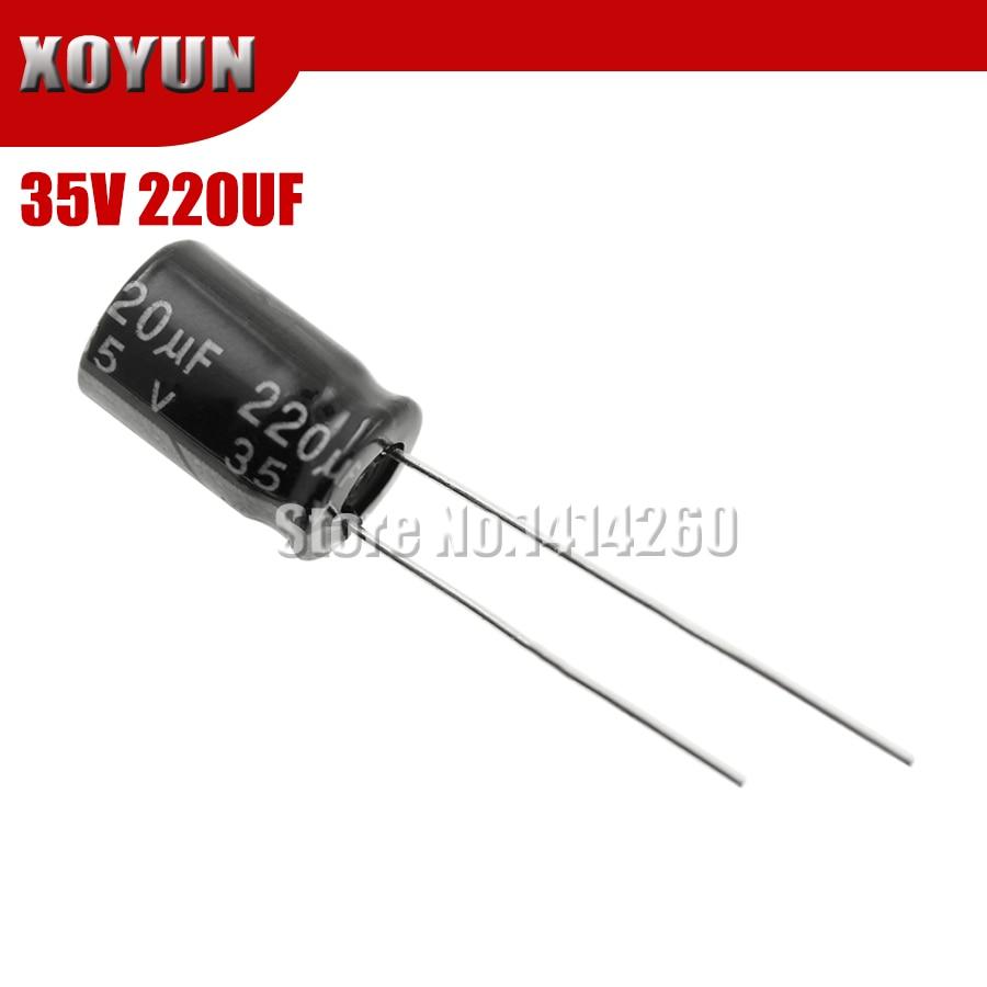 20PCS Higt Quality 35V220UF 8*12mm 220UF 35V 8*12 Electrolytic Capacitor