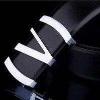 رجل رسمي الجلود حزام 100% ريال cowskin حزام مشبك الذكور البقر أحزمة حزام الرسمي جناح الشرائح إبزيم v & m الجلود حزام