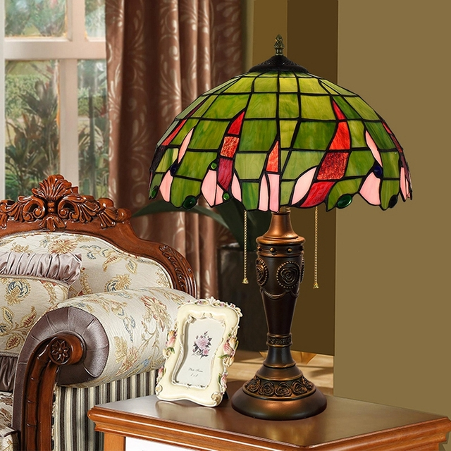 Eusolis 16 Inch Mosaic Crystal Table Lamp Bohemian Style Stained