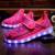 2017 crianças novas sapatilhas crianças luminosa led de carregamento usb shoes meninos meninas de luzes coloridas piscando sneakers tamanho 25-37