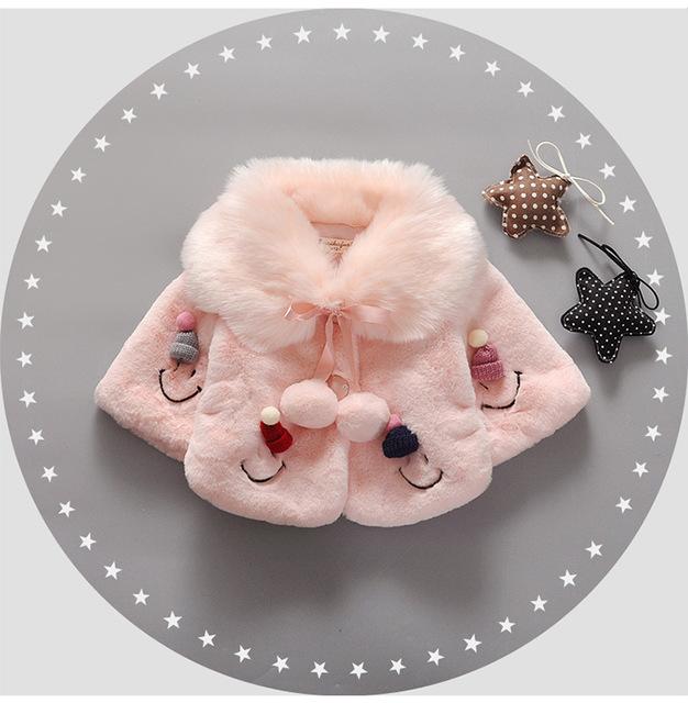 2016 Bebé de Invierno Chaqueta Gruesa Capa Pequeña Chaqueta de Algodón Acolchado Niña prendas de Vestir Exteriores de Los Bebés Niñas Parka Nieve Desgaste la Capa del bebé