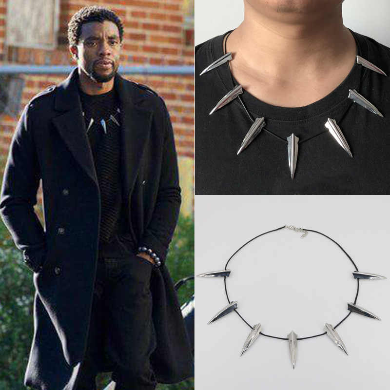 2019 New Avengers Black Panther Necklace Wakanda King T'Challa Black Panther Cosplay Necklace