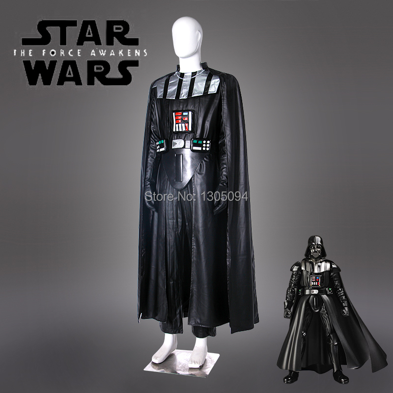 Star Wars Darth Vader Black Robe Hoodie Cloak Full Set Cosplay Costume Halloween Outfit  ...