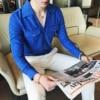 2018 Autumn Style British Men S Fashion Casual Cuba Blazer Collar Shirt Suede Long Sleeve Male