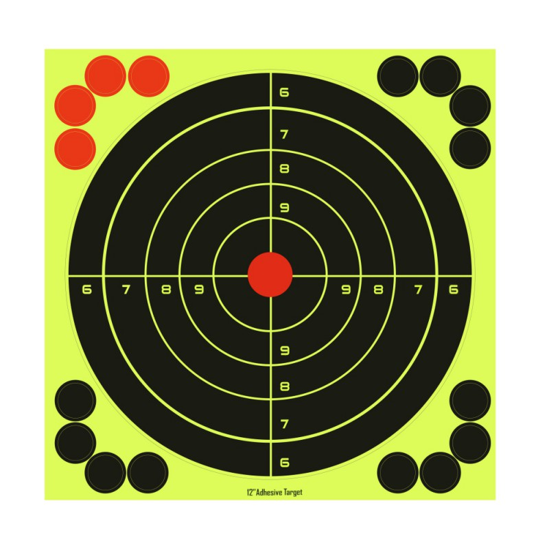 Splatterburst Targets 8 Inch Stick Splatter Reactive Self Adhesive Targets Gun Rifle Pistol BB Gun Pellet Gun Shooting Training