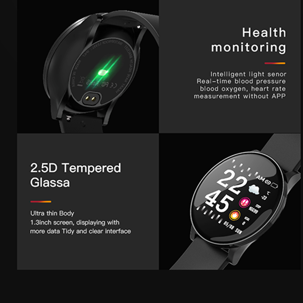 Image 5 - Smart Watch W8 ECG PPG Heart Rate Bracelet Sleep Monitor Blood Pressure Fitness Tracker Waterproof Color Screen Multi Sport Band-in Smart Wristbands from Consumer Electronics
