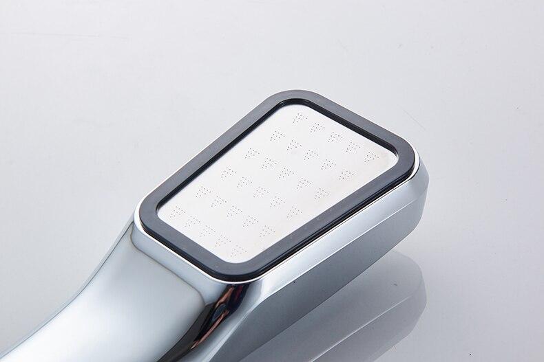 30% Water Saving 300% Pressure Boost shower head Chuveiro 300 Holes Quality ABS chrome hand hold Bathroom Shower Head 6