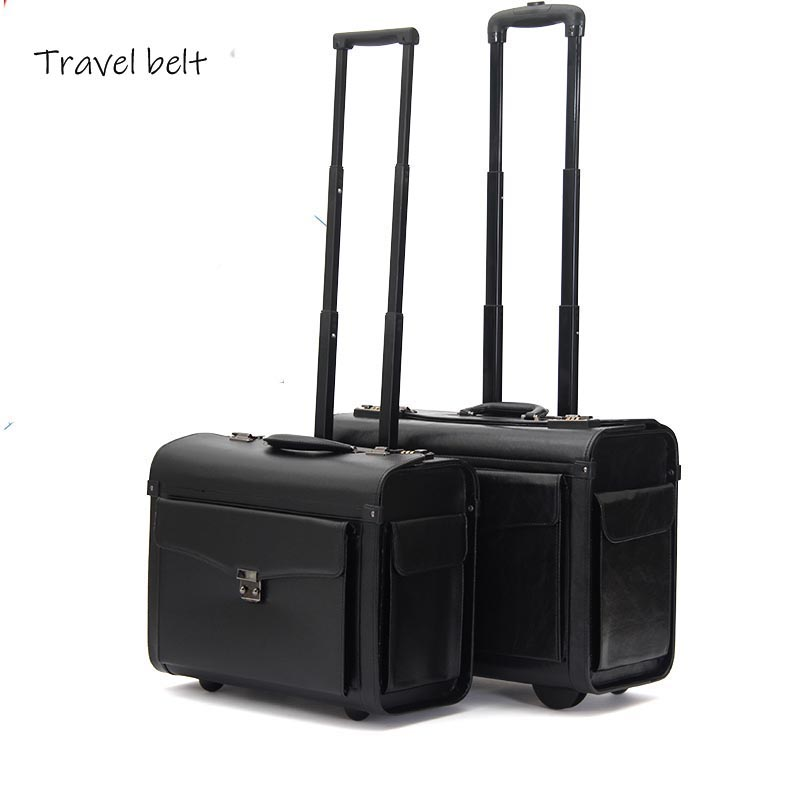 Short trip, high quality, pilot  Multifunction 19 inch size Rolling Luggage Spinner brand Captains suitcaseShort trip, high quality, pilot  Multifunction 19 inch size Rolling Luggage Spinner brand Captains suitcase