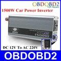 Qualidade Um Interruptor +++ 1500 W Inversor de Potência Do Carro a Bordo Conversor de Voltagem do Carregador Doxin 1500 Watt DC 12 V para AC 220 V