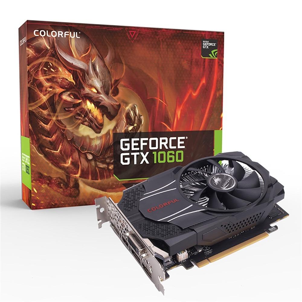 Красочная видеокарта NVIDIA GeForce GTX1060 Mini OC 6G 1531/1746 МГц GDDR5 192bit PCI E 3,0 с HDMI DP DVI D портом 19Feb13