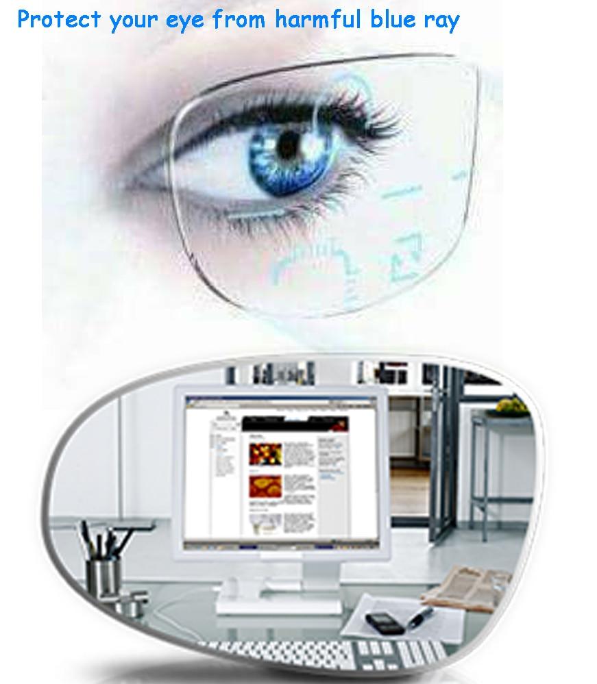 c6713f4c8e6 1.56 Anti Blue Rays Standard Multifocal Progressive Lenses Anti-fatigue Anti-glare  Prescription Customized EV1509