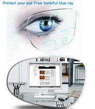 1,56 azul rayos estándar Multifocal Progresiva lentes Anti fatiga Anti glare receta personalizado EV1509
