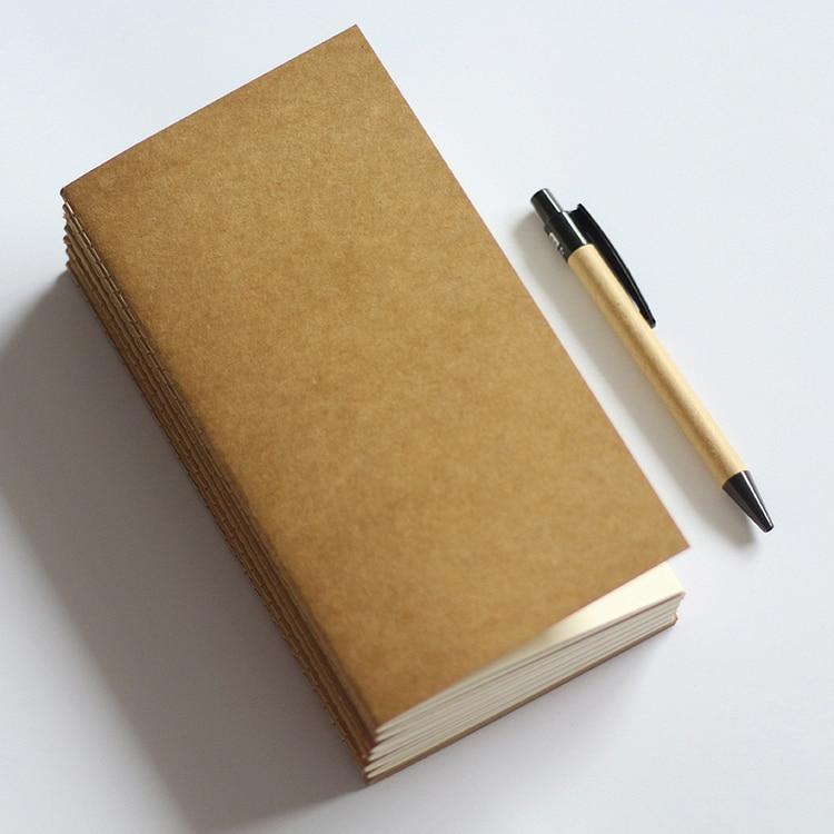 Standard / Pocket Kraft Paper Notebook Blank Anteckningsbok Dagbok - Block och anteckningsböcker - Foto 2