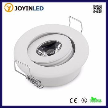 10PCS Mini White Aluminum Housing AC110V/220V Energy Saving High Power LED Spotlight 3W Ceiling Spot lights