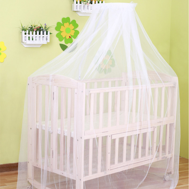 9b0bd17396c 2019 Baby hung home mosquito net white crib bed curtain portable crib tent  for baby bed