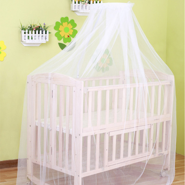 2016 Baby Hung Home Mosquito Net White Crib Bed Curtain Portable Crib Tent  For Baby Bed