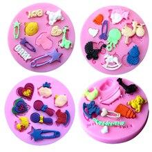 Infant Toys Trojan font b Baby b font Shower Bottle Stroller Cradle Silicone Mold Cake Decorator