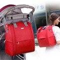 Bolsas de pañales de la momia de gran capacidad mochilas de moda bolsa de pañales del bebé bolsa de cochecito mamá multifuncional bolsa de maternidad cuidado del bebé
