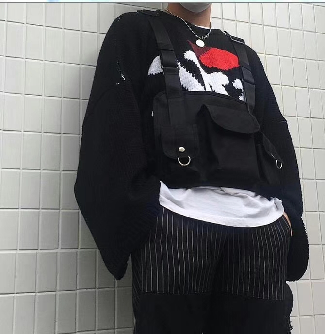 Dark Icon Multi Function 3 Pockets Vest Men Women 2019 New Fashion Best Match Hip Hop Men 39 s Vest Streetwear Black in Vests amp Waistcoats from Men 39 s Clothing