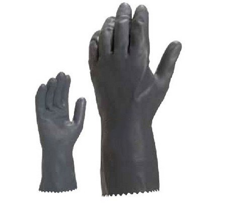 Chloroprene rubber latex with high performance chemical gloves anti acid and alkali chemical corrosion fisheries agriculture latex rubber gloves labor supplies black