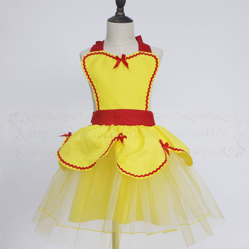 BELLE Princess Costume Tutu apron for girls and womens fun for special occasion birthday party dress up kids and adult costume