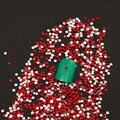 Venda quente 1000 pcs Boold Vermelho da Geléia Da Cor 2mm Resina Strass Nail Art Phone Vara Pedrinhas Não hotfix Uso cola Z016E