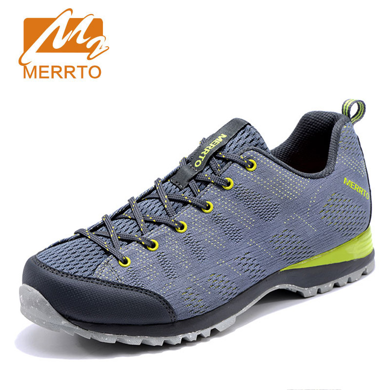 MERRTO Men's Outdoor Hiking Shoes Trekking Climbing Mountain wear-resistant Sneakers damping Breathable anti-skid Camping Shoes merrto men s outdoor cowhide hiking shoe multi fundtion waterproof anti skid walking sneakers wear resistance sport camping shoe