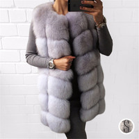 TOPFUR 2018 Fashion Real Fur Vest Coat Women Winter Natural Fur Outwear Thick Warm Real Fur Coat Real Fur Plus Size Solid
