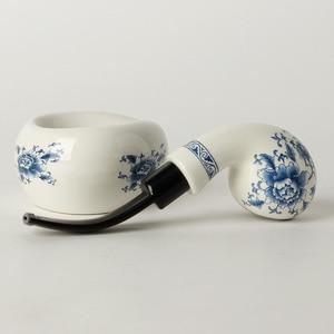 Image 3 - Ceramiczna fajka do tytoniu + rura ceramiczna stojak lub stojak na palisander 9 mm filtry papierowe acrylic Stem AK0003 8