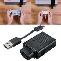 Nouveau Noir Rétro Récepteur Poignées Sans Fil Pour PS3 pour PS4 pour Wii U À Distance à pour NES Game Controller Gamepads Avec USB câble