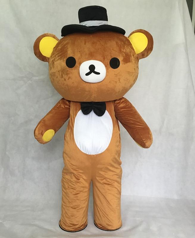 Janpan Rilakkuma Mascot Costumes Fancy bear Mascot Costume Carnival Costume Free Shipping