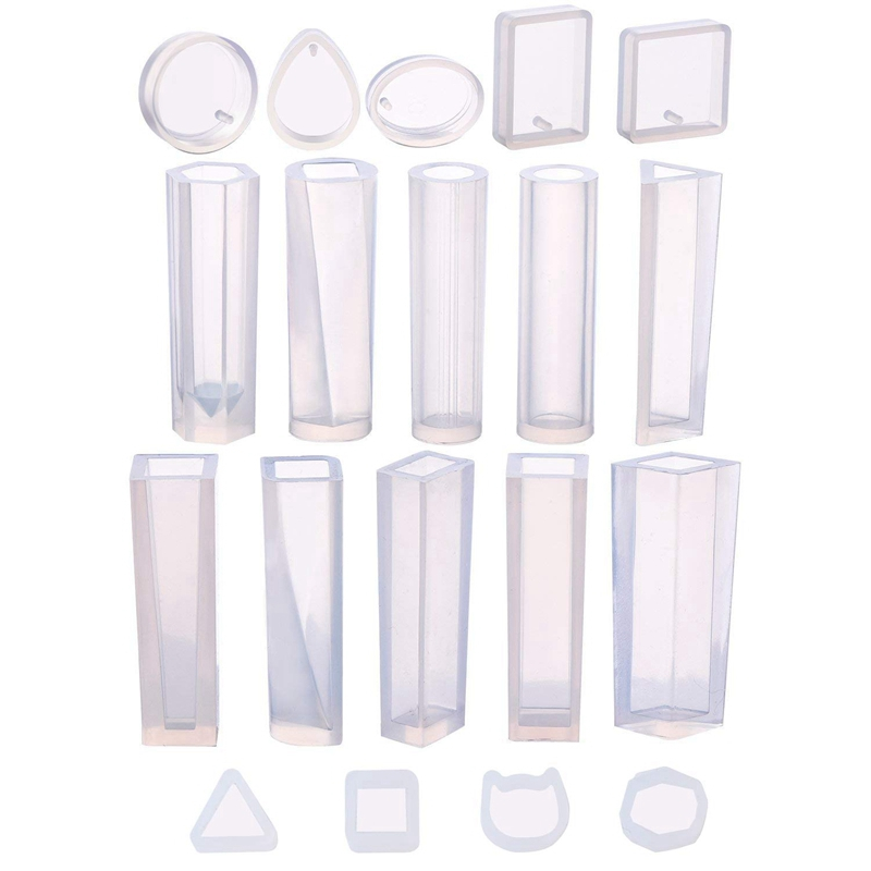 19 Pcs Resin Molds Silicone Pendant Mould For Jewellery Casting Molds Diy