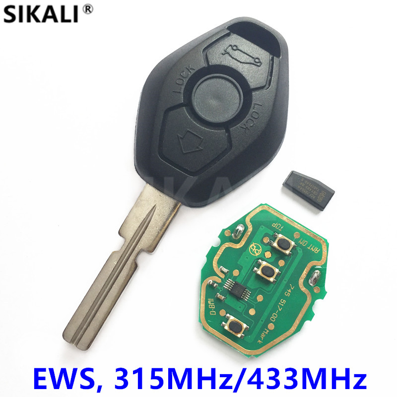 Funkschlüssel für BMW EWS System Id44-chip 315 MHz/433 MHz für X3 X5 Z3 Z4 1/3/5/7 Serie mit HU58 Taschenmesser