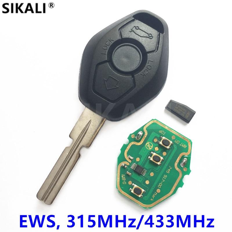 Remote Key for BMW EWS System ID44 Chip 315MHz/433MHz for X3 X5 Z3 Z4 1/3/5/7 Series with HU58 Pocket Knife