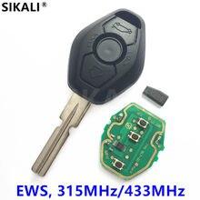 Chave remota para o sistema bmw facelift id44 chip 315mhz/433mhz para x3 x5 z3 z4 1/série 3/5/7 com faca de bolso hu58