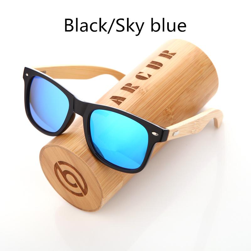 نظارة شمسية للرجال وللسيدات بعدسات بلورايزد واطار خشبي 8