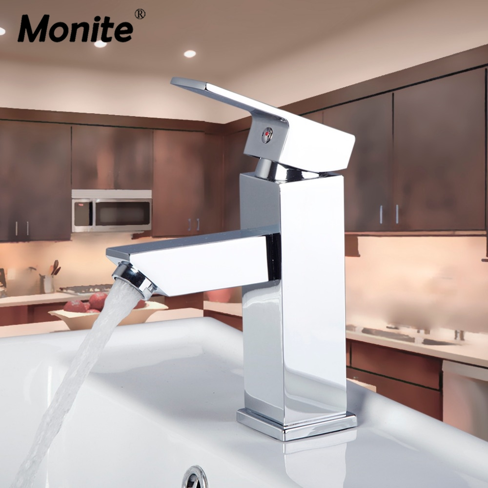 NEW Chrome Brass Bathroom Basin Mixer Faucet Polished Single Handle Hole Vanity Sink Mixer Taps цена