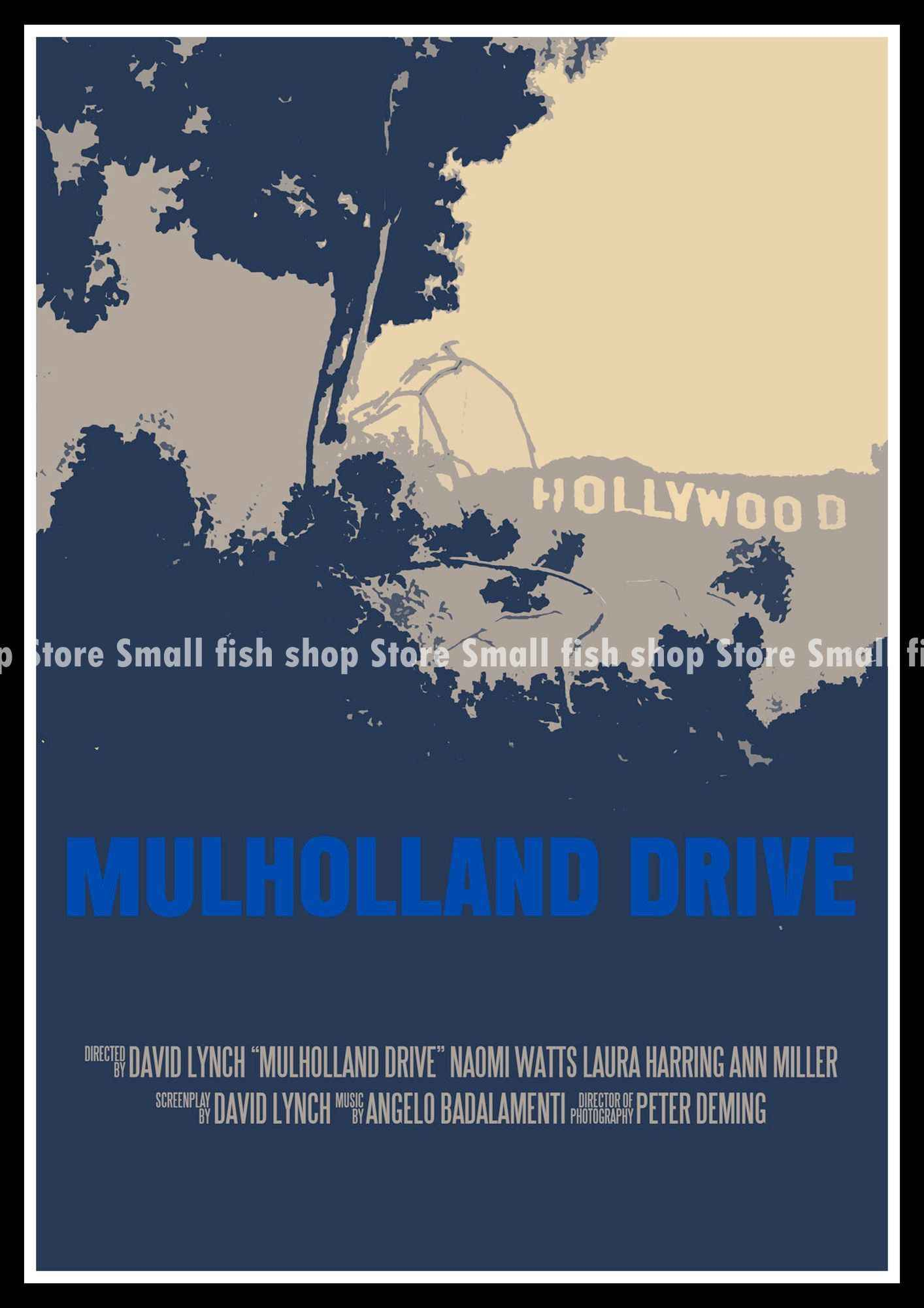 87338ddb8 ... Mulholland Drive Home Furnishing decoration Kraft Movie Poster Drawing  core Wall stickers 42*30 cm
