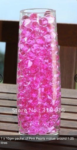 Free Shipping Glow Inflatable Crystal Absorbent Polymer Water Pearl Beads Hydro Gel For Glass