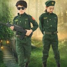 Детская однотонная одежда, армейская форма, летчики ВВС для мальчиков и девочек, военная форма, униформа спецназа, полевой Камуфляжный костюм