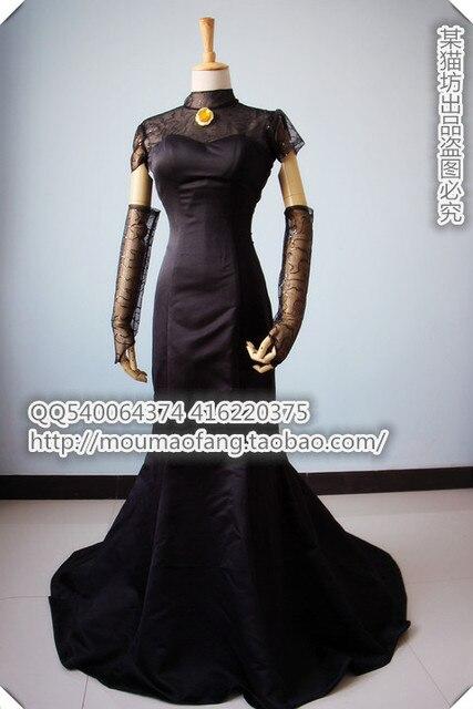 2016 Hotel Transylvania Cosplay Costume Mavis Wedding Dress In Black